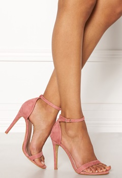 AX Paris Barely There Sandals Blush Suede Bubbleroom.dk