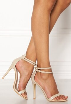 AX Paris Barely There Sandals Nude Snakeskin Bubbleroom.dk