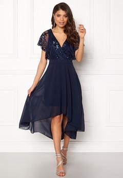 AX Paris Batwing Sequin Top Dress Navy Bubbleroom.dk