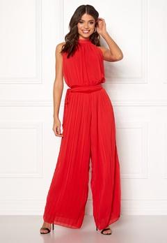 AX Paris Blouson Pleated Jumpsuit Red Bubbleroom.dk