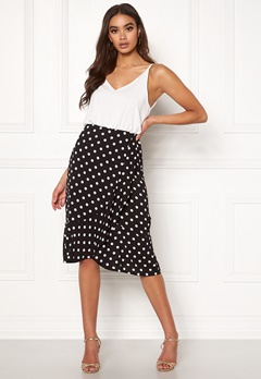 AX Paris Blouson Polka Dot Dress Black Bubbleroom.dk