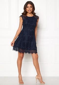 AX Paris Cap Crochet Lace Dress Navy Bubbleroom.dk