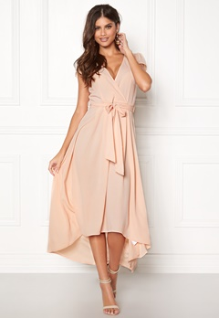 AX Paris Cap Waterfall Dress Nude Bubbleroom.dk