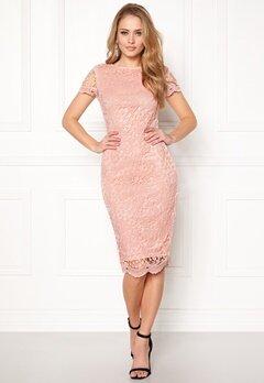 AX Paris Crochet Lace Midi Dress Pink Bubbleroom.dk