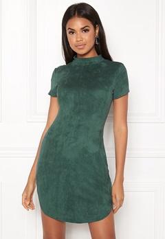 AX Paris Faux Suede Mini Dress Green Bubbleroom.dk