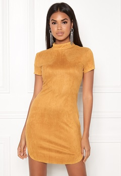 AX Paris Faux Suede Mini Dress Mustard Bubbleroom.dk