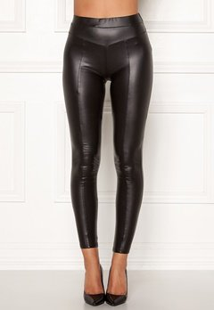 AX Paris Faux Leather PU Leggings Black Bubbleroom.dk
