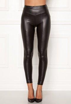 AX Paris Faux Leather PU Leggings Black Bubbleroom.dk