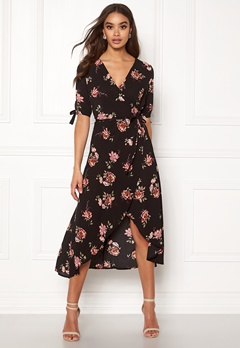AX Paris Floral Tie Wrap Dress Multi Bubbleroom.dk