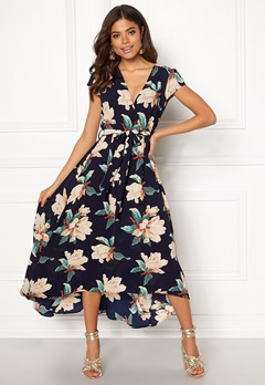 254c6cfc AX Paris Floral Waterfall Dress Navy Bubbleroom.dk