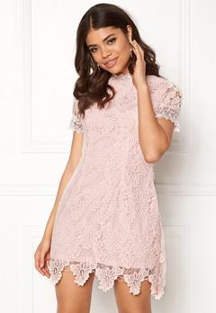 AX Paris High Neck Lace Dress Blush Bubbleroom.dk