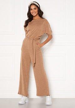 AX Paris Knitted Jumpsuit Camel Bubbleroom.dk
