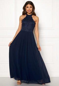 AX Paris Lace Bodice Maxi Dress Navy Bubbleroom.dk