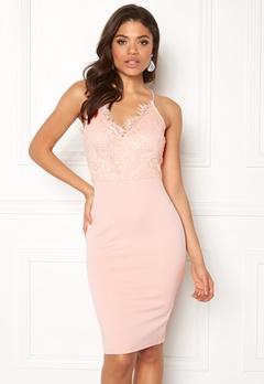 AX Paris Lace Detail Midi Dress Pink Bubbleroom.dk