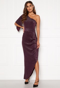 AX Paris One Shoulder Maxi Dress Plum Bubbleroom.dk
