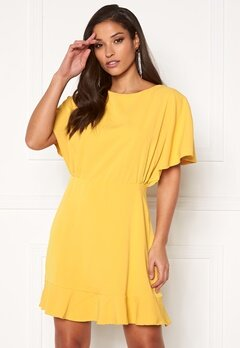 AX Paris Open Back Skater Dress Yellow Bubbleroom.dk