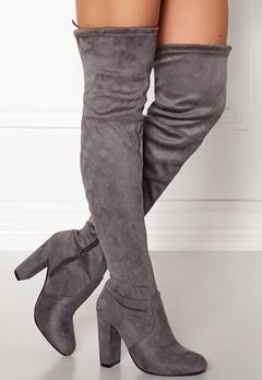 AX Paris Overknee Boots Grey Bubbleroom.dk