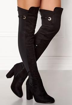 AX Paris Overknee Zip Boots Black Bubbleroom.dk