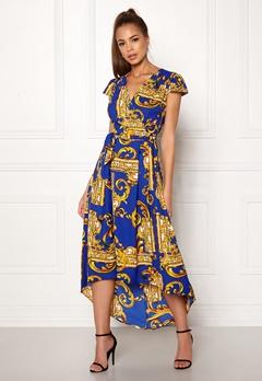 AX Paris Printed Cap Maxi Dress Royal Blue Bubbleroom.dk