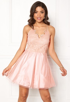 AX Paris Prom Lace Detail Dress Pink Bubbleroom.dk