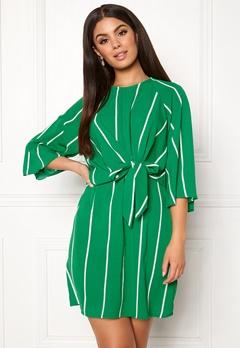 AX Paris Stripe Tie Sleeve Dress Green Bubbleroom.dk