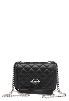 Love Moschino Bag With Chain 000 Black Bubbleroom.dk