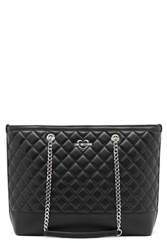 Love Moschino Bag With Chain 00A Black/Silver Bubbleroom.dk