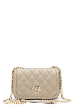 Love Moschino Bag With Chain 108 Taupe/Sand Bubbleroom.dk
