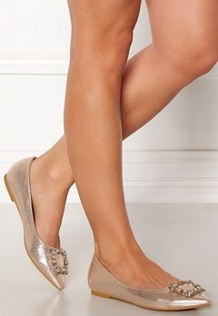 Francesco Milano Ballerina Raso Shoes Platino Bubbleroom.dk