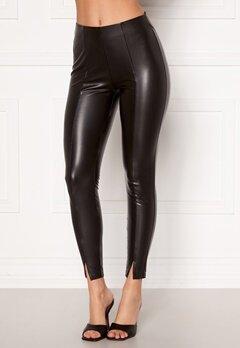 VILA Barb Coated 7/8 Pants Black Bubbleroom.dk