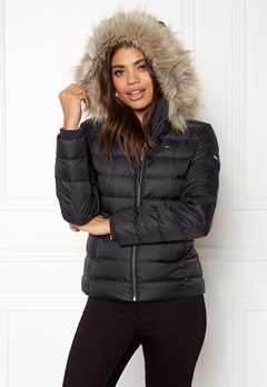 TOMMY JEANS Basic Down Jacket Black beauty Bubbleroom.dk