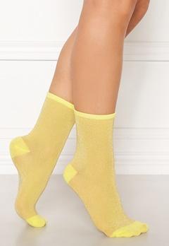 Becksøndergaard Dina Solid Socks Yellow Bubbleroom.dk