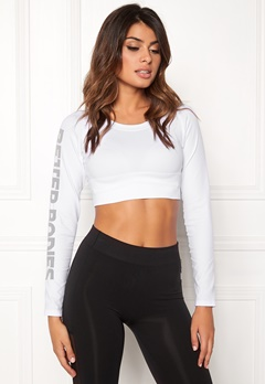 Better Bodies Bowery Cropped Long Sleeve White Bubbleroom.dk