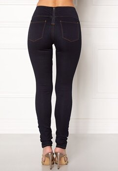 Pieces Betty High Waist Jeggings Dark Blue Denim Bubbleroom.dk