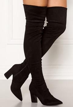 Bianco Carter Overknee Boots Black Bubbleroom.dk