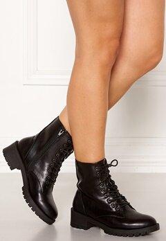 Bianco Claire Laced-Up Boots Black Bubbleroom.dk