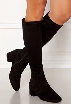 Billi Bi Suede Stretch Long Boots Black Bubbleroom.dk