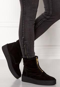 Billi Bi Black Suede/Gold Boots Black Bubbleroom.dk