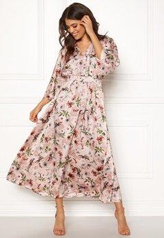 Blue Vanilla Floral Kimono Midi Dress Pink Bubbleroom.dk