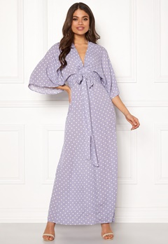 Blue Vanilla Kimono Sleeve Maxi Dress Lilac Bubbleroom.dk