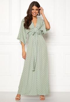 Blue Vanilla Kimono Sleeve Maxi Dress Mint Bubbleroom.dk