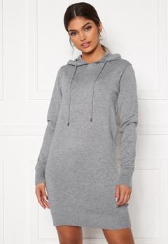 Blue Vanilla Knitted Jumper Dress With Hood Grey Bubbleroom.dk