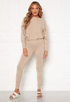 Blue Vanilla Knitted Slim Fit Trouser Jumper Set Stone Bubbleroom.dk