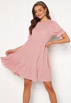 Blue Vanilla Tiered Mini Dress Pink Bubbleroom.dk