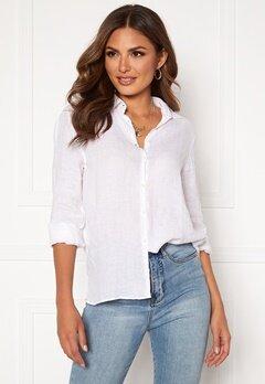 Boomerang Lina Linen Shirt White Bubbleroom.dk