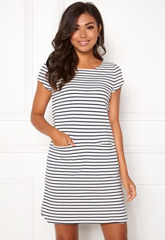 Boomerang Millie Striped Dress Offwhite Bubbleroom.dk