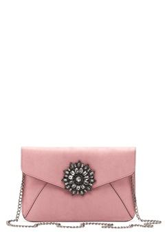 New Look Brooch Envelope Clutch Shell Pink Bubbleroom.dk