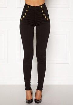 BUBBLEROOM Adina highwaist jeans Black Bubbleroom.dk
