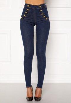 BUBBLEROOM Adina highwaist jeans Midnight blue Bubbleroom.dk