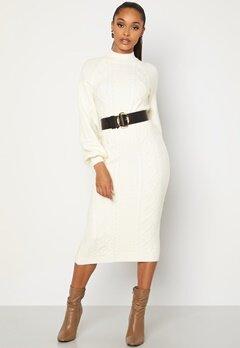 BUBBLEROOM Aisha knitted dress White bubbleroom.dk